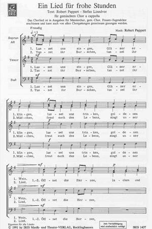 Chornoten: Ein Lied für frohe Stunden