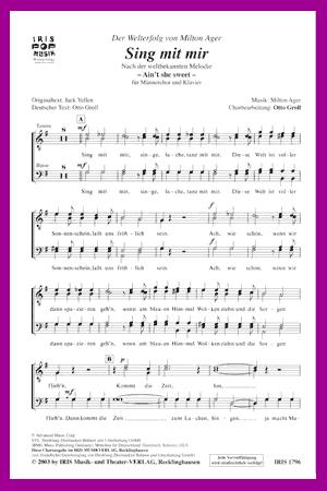 Chornoten: Sing mit mir (vierstimmig)