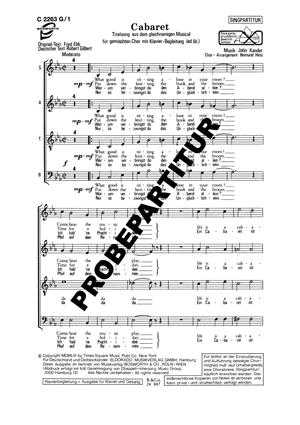 Chornoten: Cabaret für Männerchor