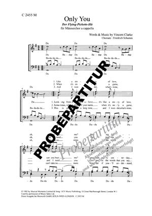 Chornoten: Only You für Männerchor