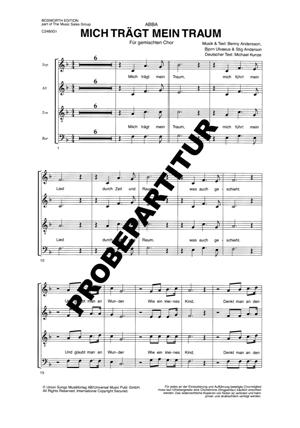 Chornoten: Mich trägt mein Traum für gemischten Chor