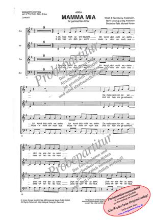 Chornoten: Mamma Mia für Frauenchor