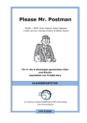 Chornoten: Please Mr. Postman (vierstimmig)
