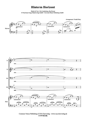 Hinterm Horizont für gemischten Chor