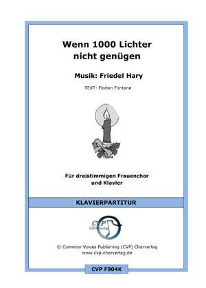 Chornoten: Wenn 1000 Lichter nicht genügen (vierstimmig)