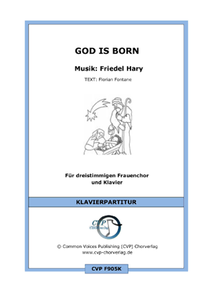 Chornoten: God is born (vierstimmig)