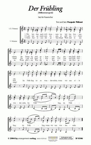 Chornoten Der Frühling