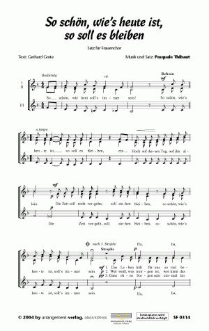 Chornoten So schön wie`s heute ist, so soll es bleiben