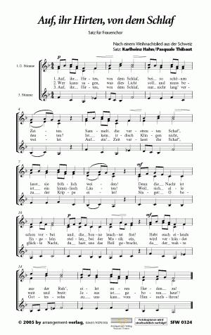 Chornoten: Auf, ihr Hirten, von dem Schlaf