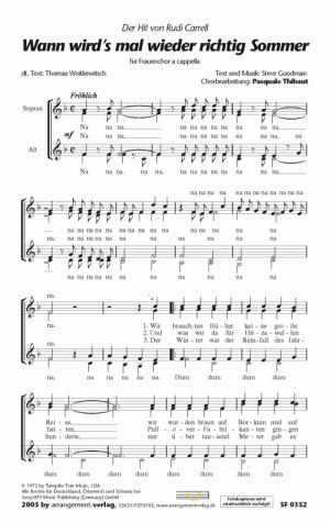 Chornoten Wann wird`s mal wieder richtig Sommer