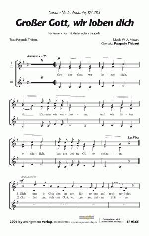 Chornoten: Großer Gott, wir loben dich für Frauenchor