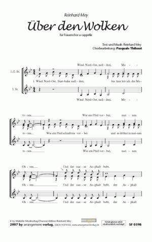 Chornoten: Über den Wolken für Frauenchor