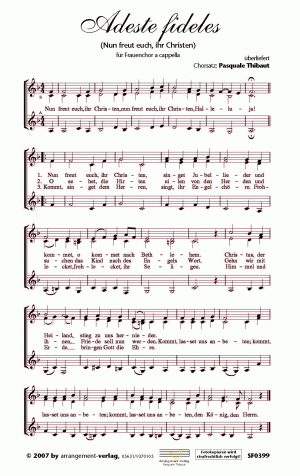 Chornoten Adeste fideles