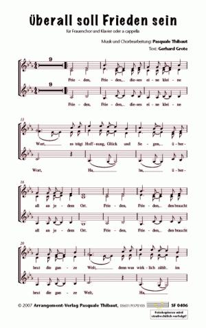 Chornoten Überall soll Frieden sein