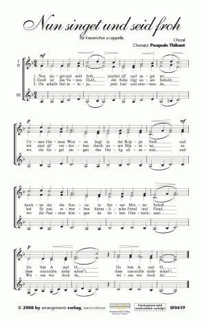 Chornoten Nun singet und seid froh
