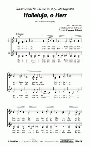 9a0bff3de0 Halleluja, o Herr beliebte-chormusik.de aus der Sinfonie Nr. 2 von Ludwig  v. Beethoven