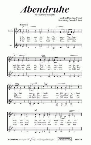 Chornoten Abendruhe