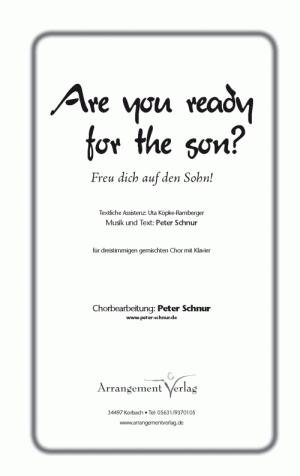Chornoten Freu dich auf den Sohn!
