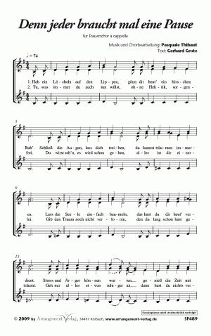 Chornoten: Denn jeder braucht mal eine Pause