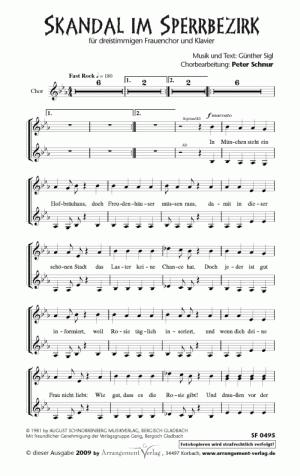 Chornoten: Skandal im Sperrbezirk für Frauenchor