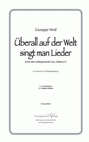 Chornoten Überall auf der Welt singt man Lieder