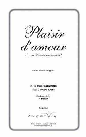 Chornoten: Plaisir d`amour