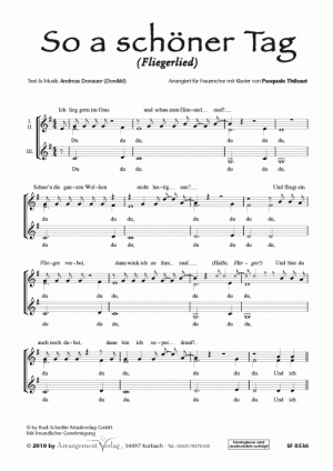 Chornoten: So a schöner Tag für Frauenchor
