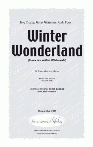 Chornoten: Winter Wonderland (Durch den weißen Winterwald) für Frauenchor
