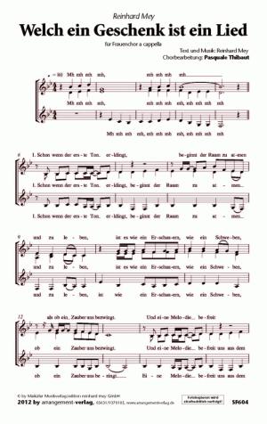 Chornoten: Welch ein Geschenk ist ein Lied