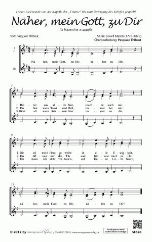 Chornoten Näher, mein Gott, zu Dir