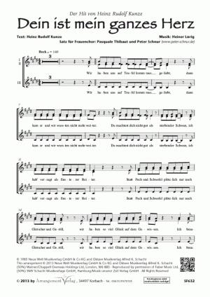 Chornoten Dein ist mein ganzes Herz