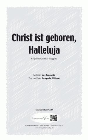 Chornoten Christ ist geboren, Halleluja