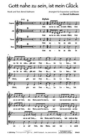 Chornoten: Gott nahe zu sein, ist mein Glück für Frauenchor