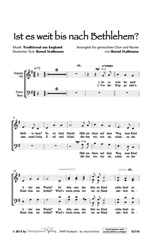 Chornoten: Ist es weit bis nach Bethlehem?
