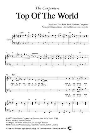 Chornoten: Top of the World (vierstimmig)