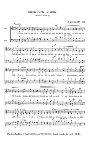 Chornoten: Meine Seele ist stille (vierstimmig)