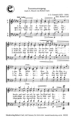 Chornoten: Sonnenuntergang (vierstimmig)