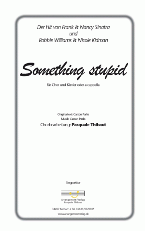 Chornoten: Something stupid (vierstimmig)