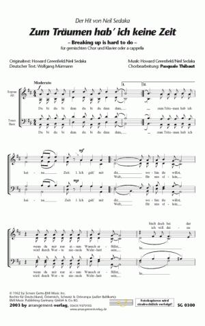 Chornoten: Zum Träumen hab ich keine Zeit