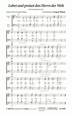 Chornoten: Lobet und preiset den Herrn der Welt (vierstimmig)