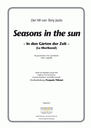 Chornoten: Seasons in the sun (vierstimmig)