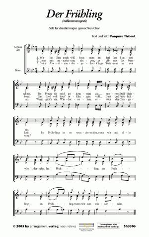 Chornoten: Der Frühling (dreistimmig)