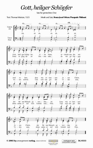 Chornoten: Gott, heilger Schöpfer (vierstimmig)