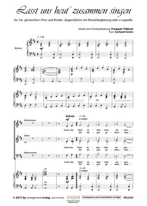 Chornoten: Lasst uns heut zusammen singen (dreistimmig)