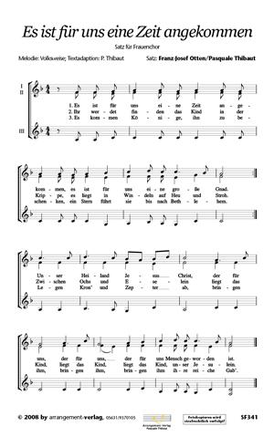 Chornoten: Es ist für uns eine Zeit angekommen für gemischten Chor