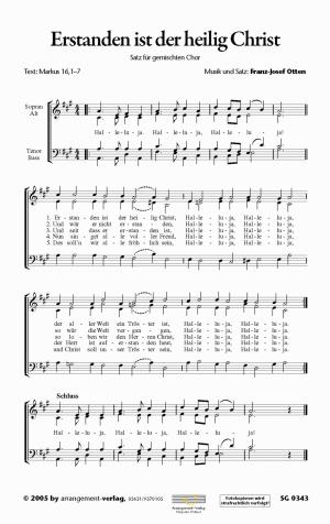 Chornoten: Erstanden ist der heilig Christ (vierstimmig)