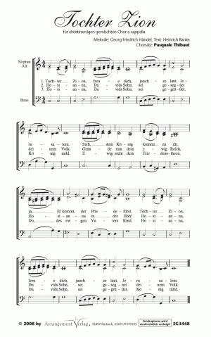 Chornoten: Tochter Zion, freue dich (dreistimmig)