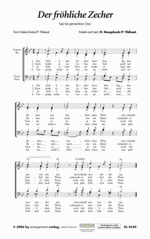 Chornoten: Der fröhliche Zecher (vierstimmig)