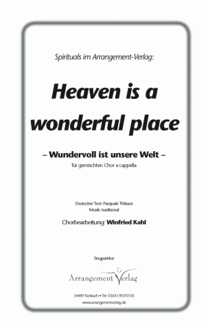 Chornoten Heaven Is A Wonderful Place F R Gemischten Chor