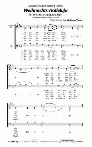 Weihnachts-Halleluja (dreistimmig)